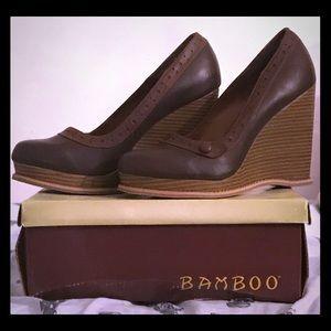BAMBOO Randy Chunky Wedge High Heel
